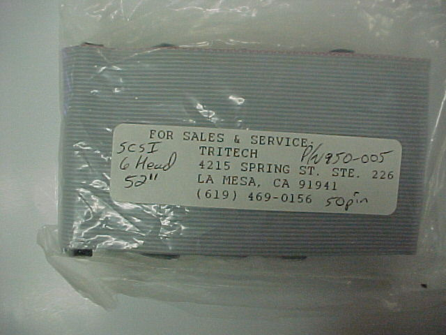 "50 Pin SCSI 6 Head 52"" Internal Ribbon cable"
