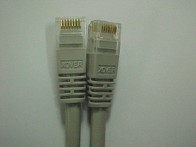 Cat 5e 14' RJ-45 Crossover Gray Cable